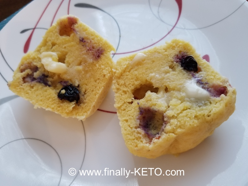 Blueberry Mug Muffins on a plate