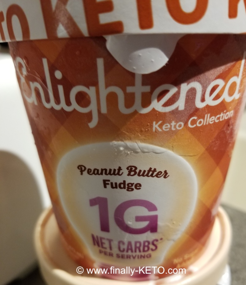 Enlightened brand Peanut Butter Fudge KETO Ice Cream