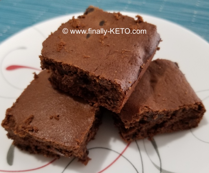 Keto brownies on a plate